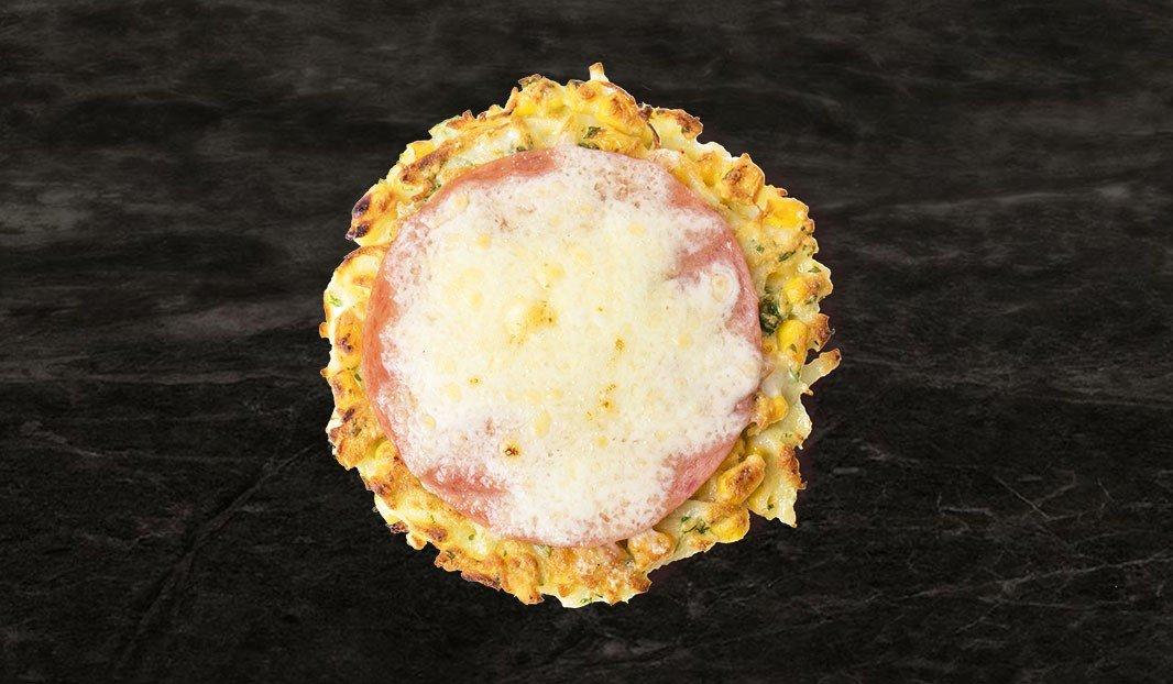 Salami corn cakes