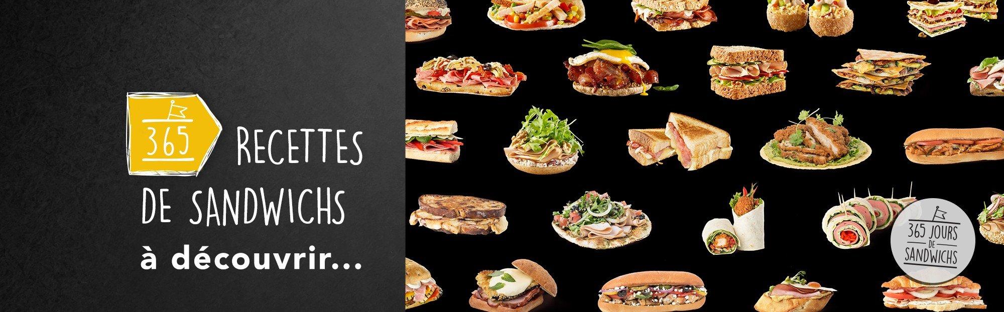 365 recettes de sandwich à découvrir