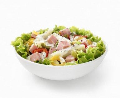 Salade de jambon et pommes de terre aux poivrons grillés
