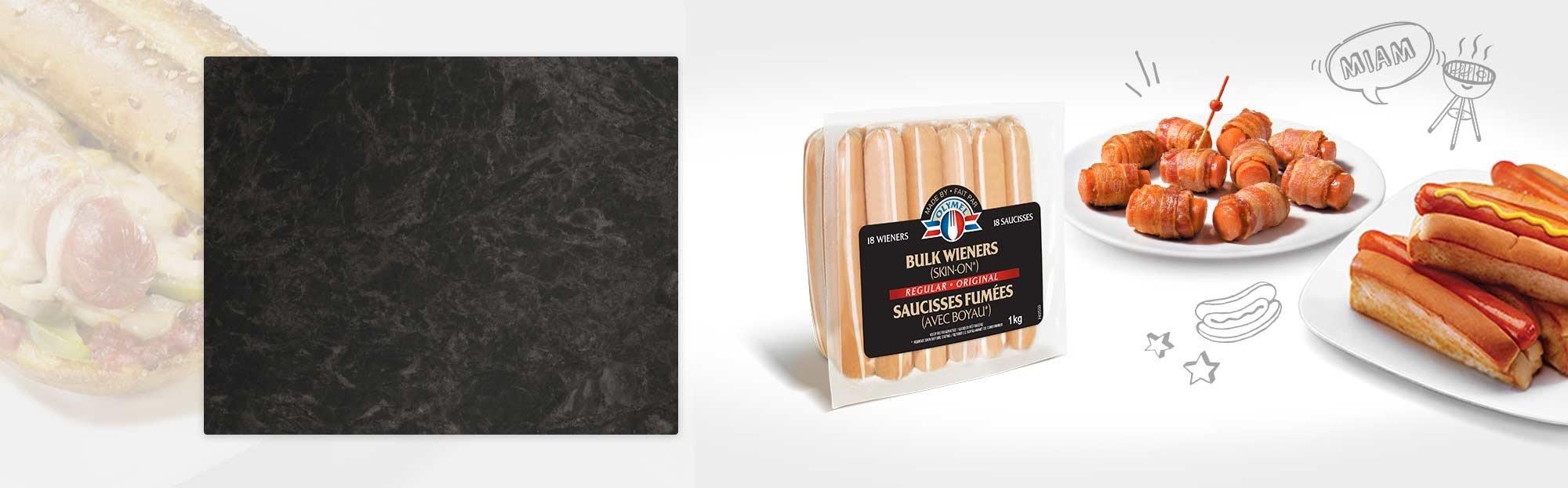 Regular wieners (Skin on)