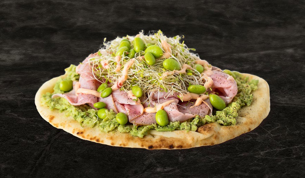 California-Style Ham on Naan