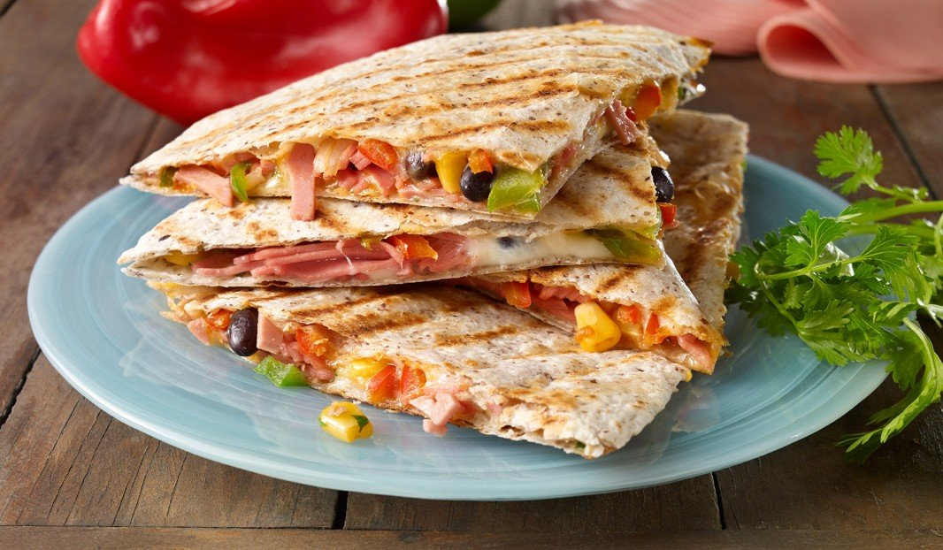 Grilled quesadillas with bologna