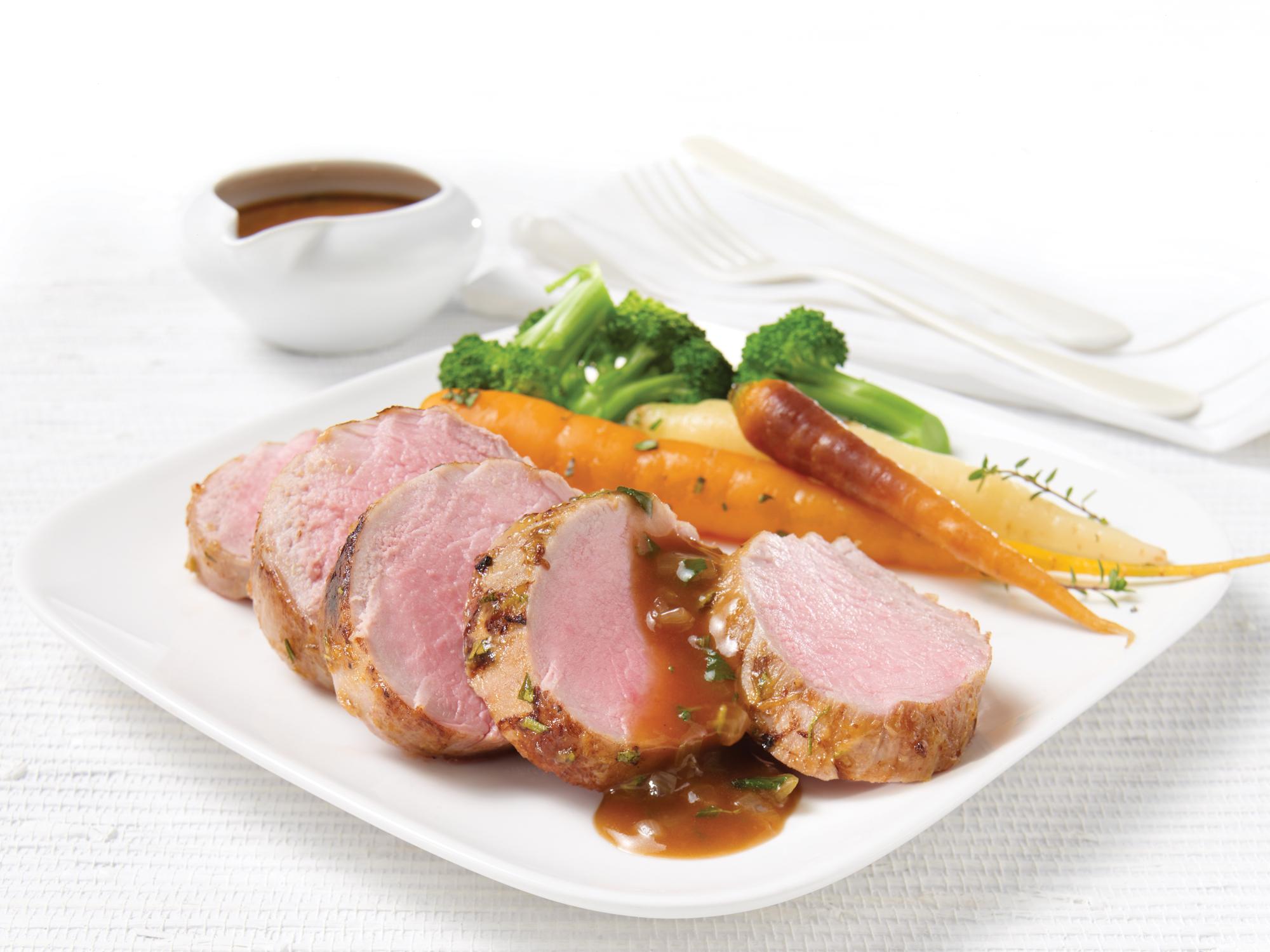 Filets de porc r tis la dijonnaise et fines herbes olymel inspirez vous - Paupiette de porc a la poele ...