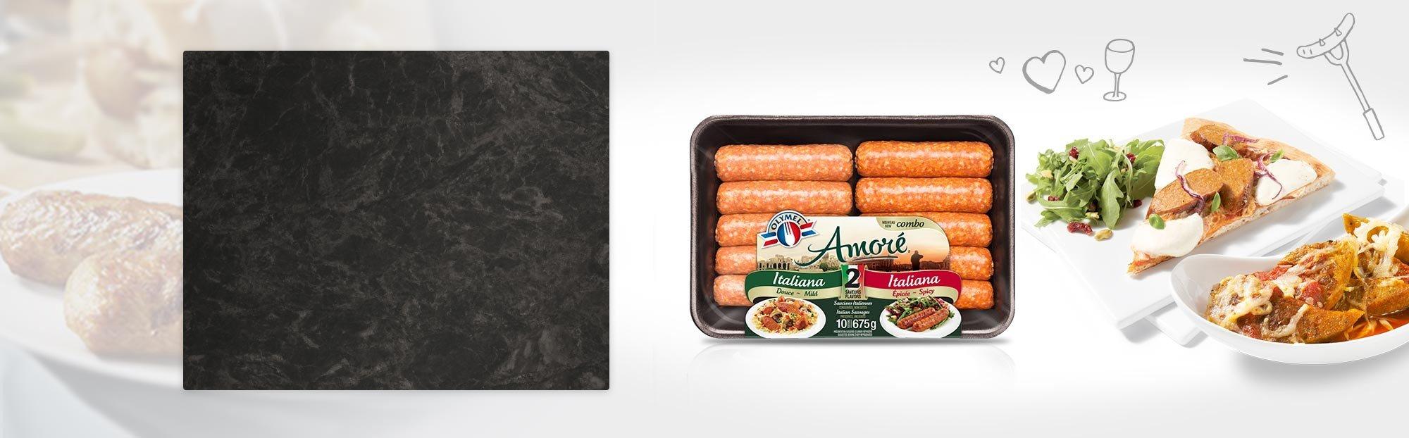 Combo Saucisses Italiennes douce et Italiennes épicée Amoré