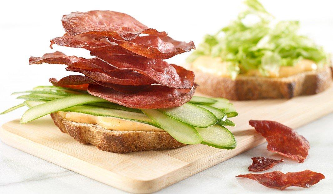 Sandwich salami croustillant