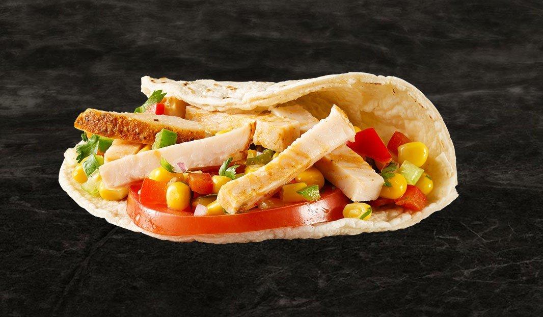 Turkey and corn salsa tacos