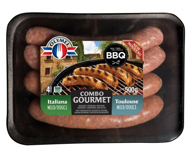 Duo Italian mild and Toulouse sausages Olymel gourmet