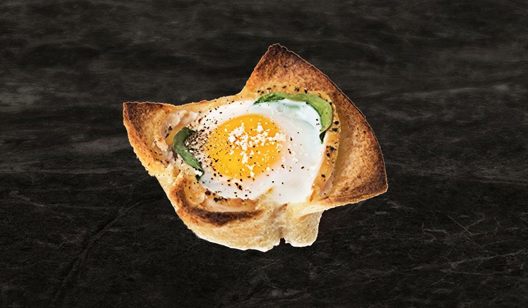 Coupelle œuf et jambon à la florentine