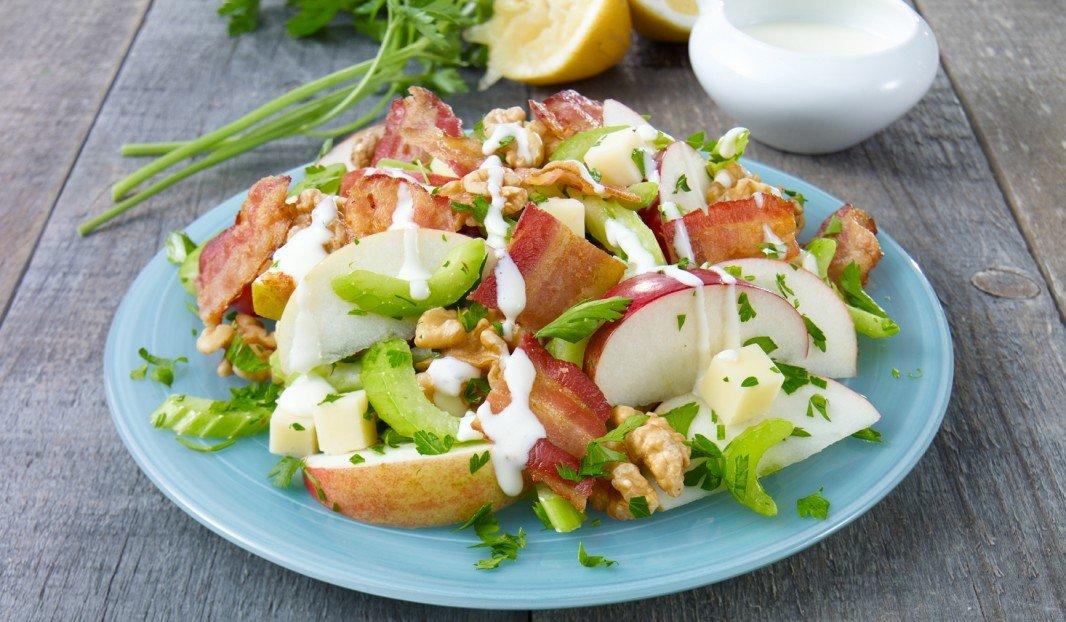 Salade Waldorf au Bacon