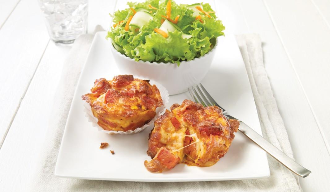 Muffins pizza au pepperoni
