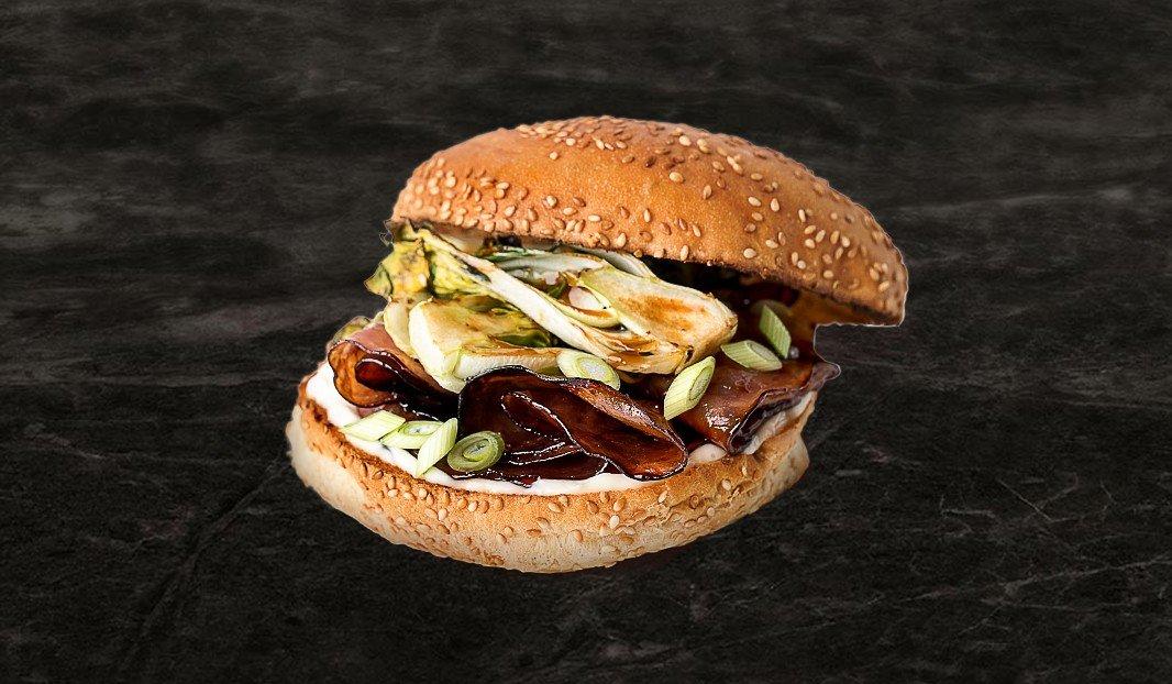 Burger au jambon teriyaki