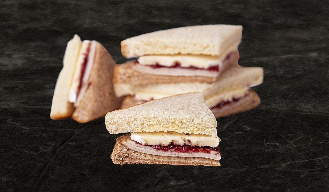 Turkey Brie and Cranberry Snack Sandwich
