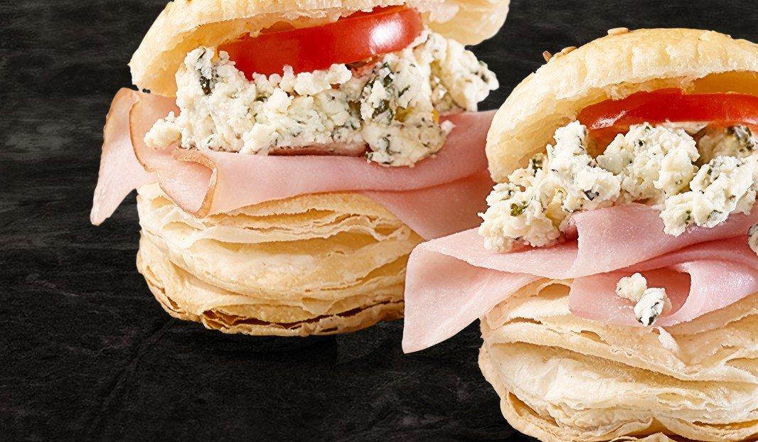 Feuilletés jambon et Boursin Bouquet de Basilic