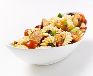 Fusilli Salad with Bacon & Cheddar Sausage