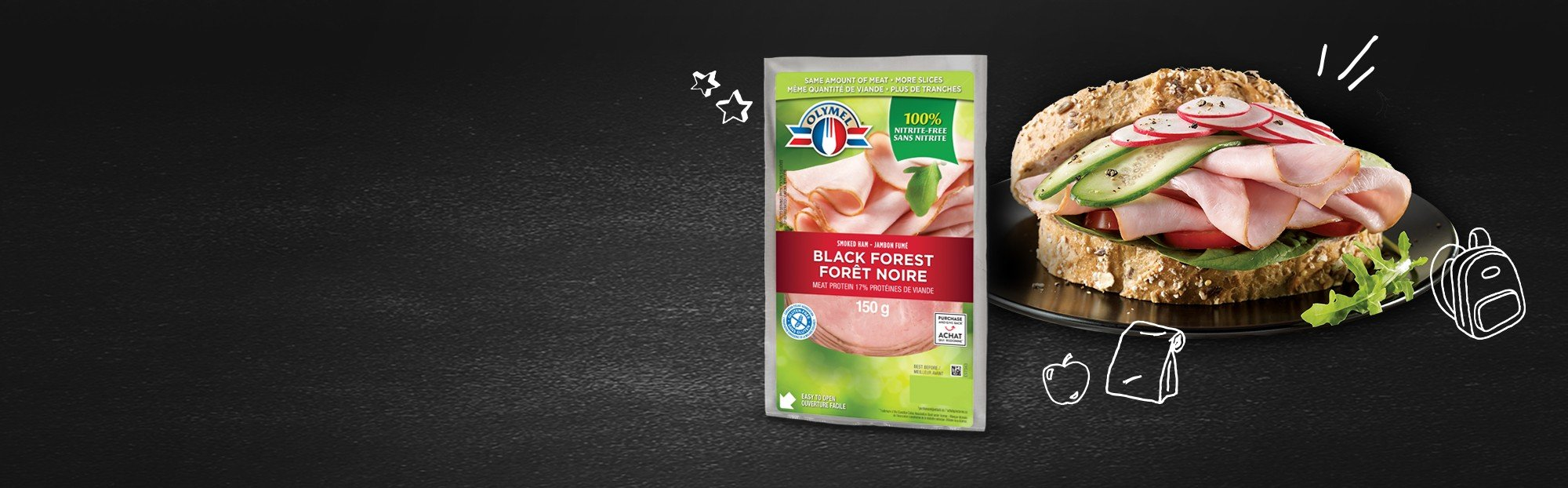 Black forest ham, nitrite-free