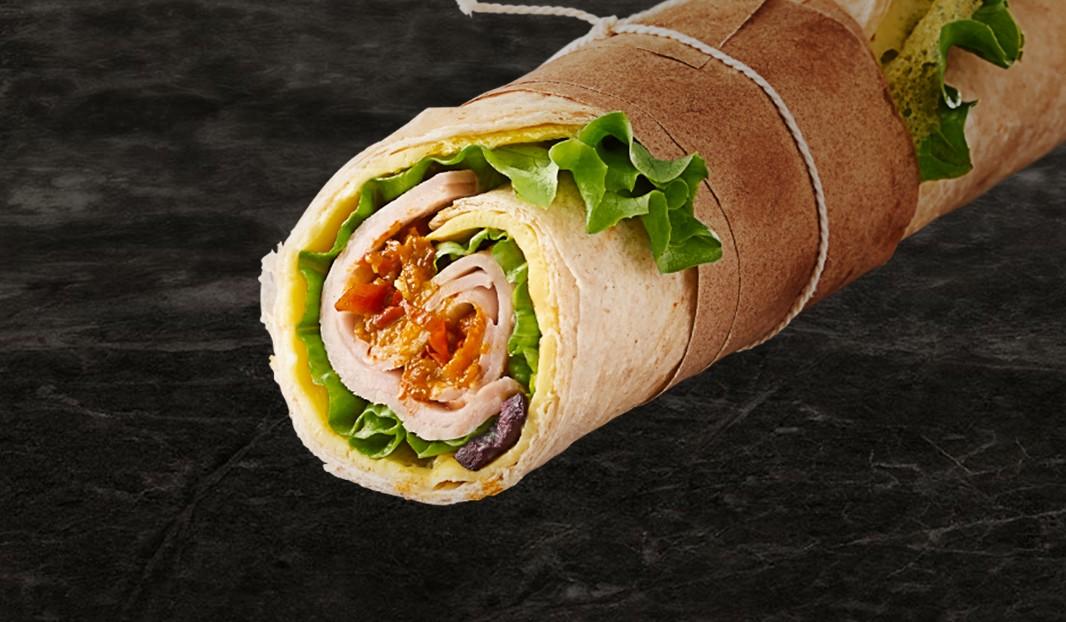 Wrap frittata, dinde et olive