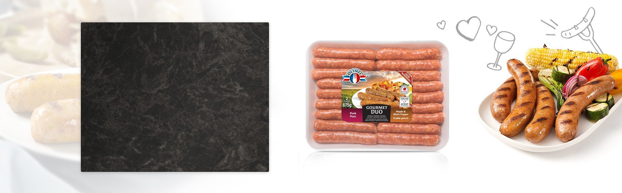 Pork & Maple and Black pepper Sausages