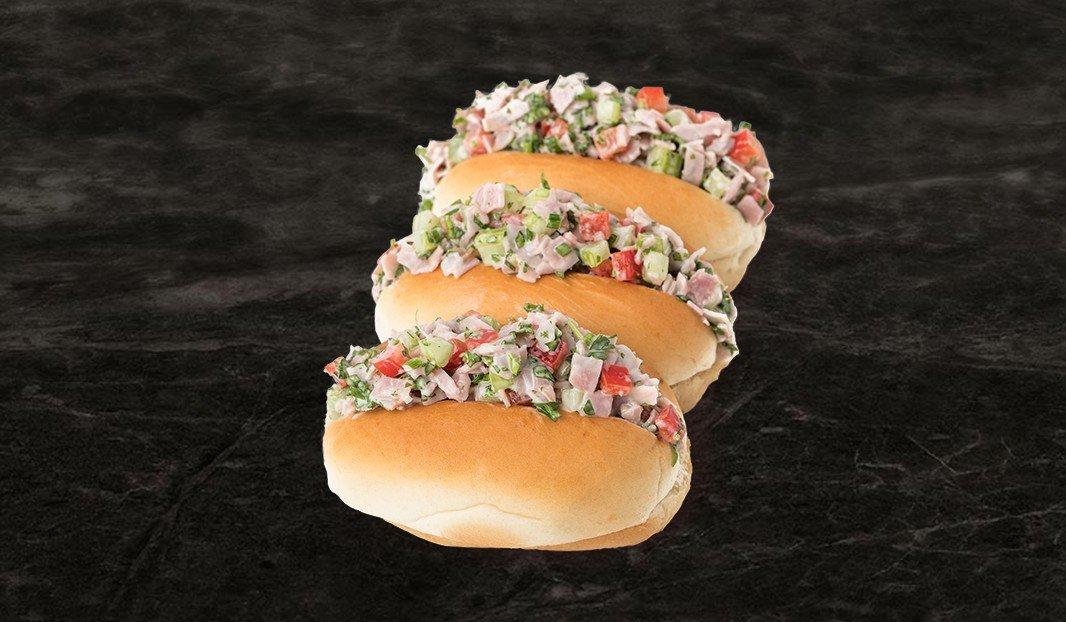 Petits pains fourrés à la salade de jambon