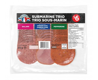 Sliced Meat Submarine Trio