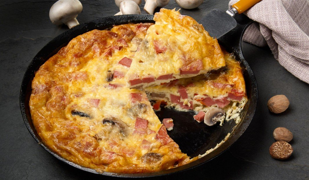 Bologna frittata with vegetables