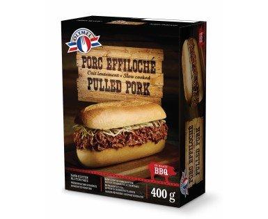 Porc effiloché, cuit lentement  sauce BBQ