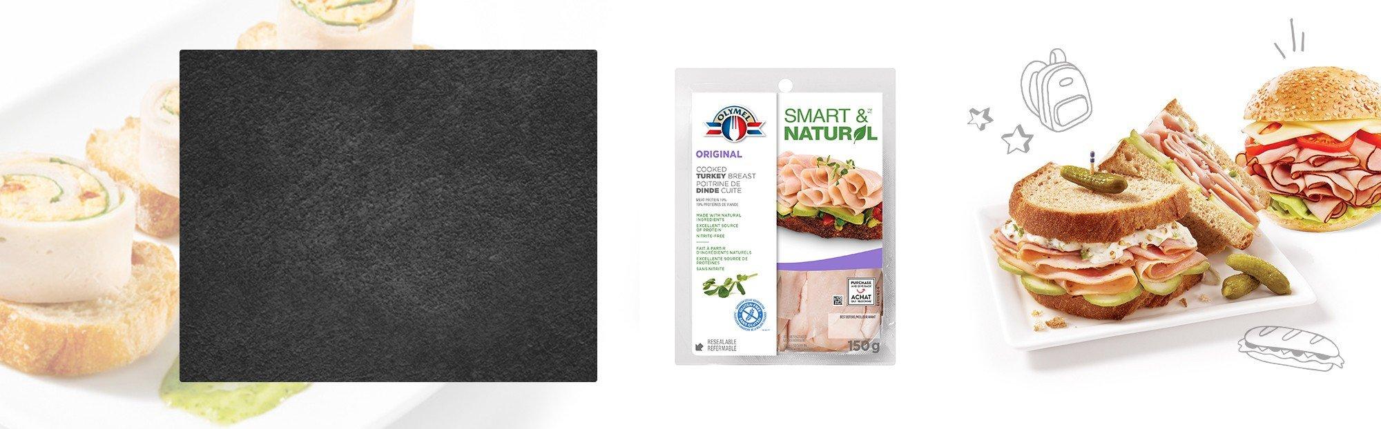 Poitrine de dindon cuite émincé Olymel Smart & Naturel