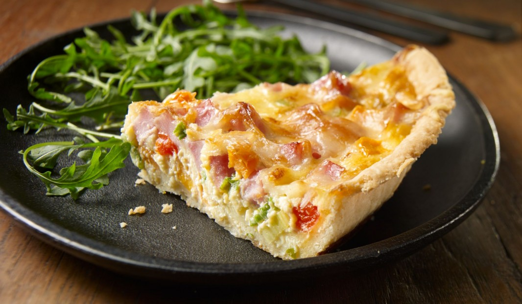Quiche with ham and sweet potatoes
