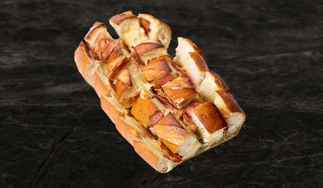 Miche coulante bacon-fromage