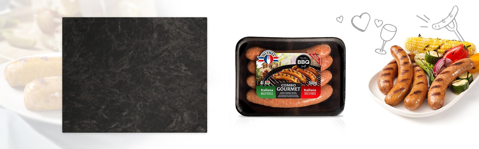 Duo saucisses Italienne douce et forte Olymel gourmet
