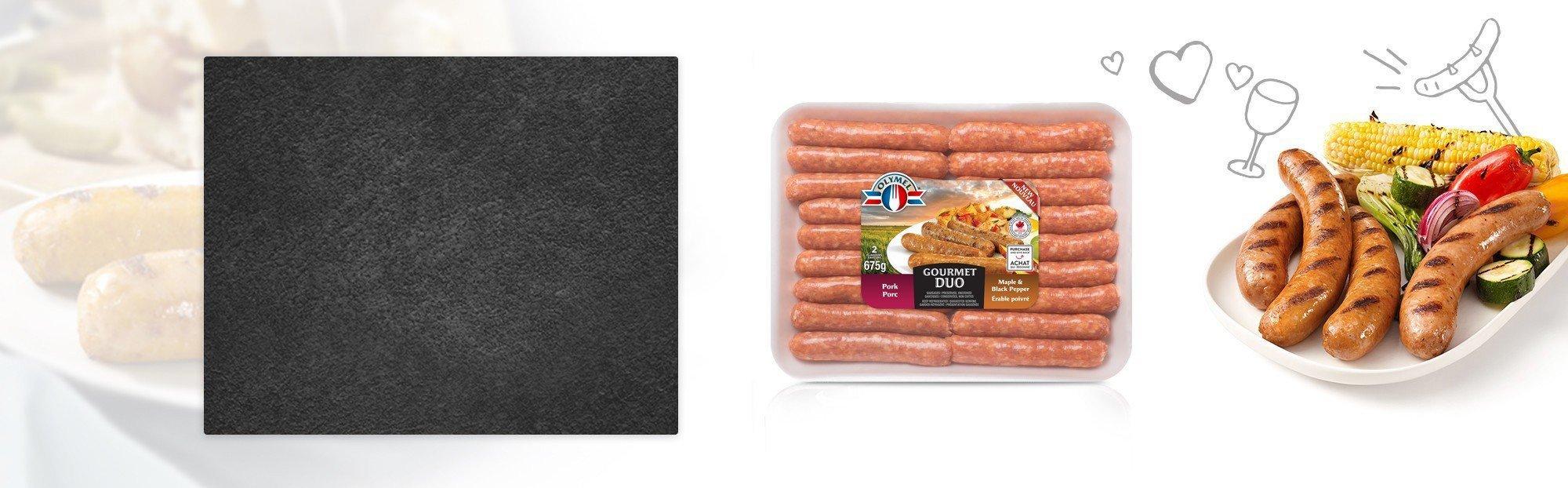 Saucisses Porc & Érable poivrée