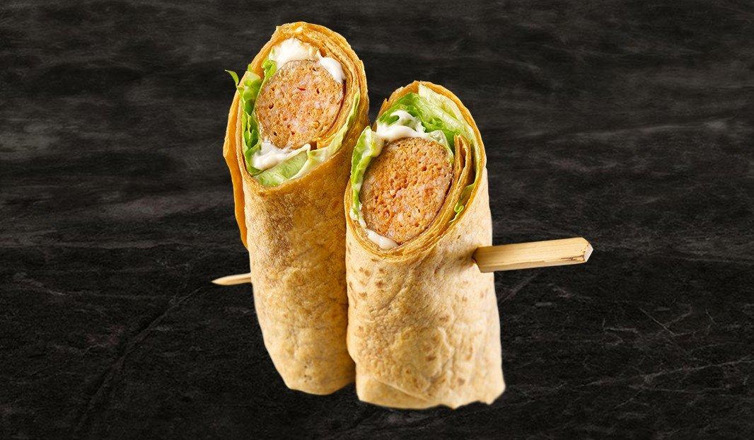 Wrap saucisse, triple piquants