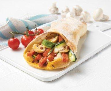 Stromboli au salami et trois fromages