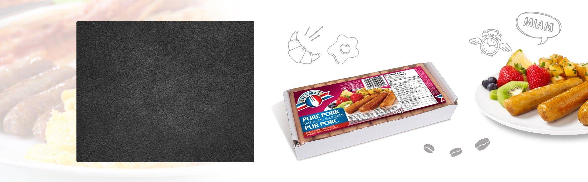 Saucisses à déjeuner pur porc