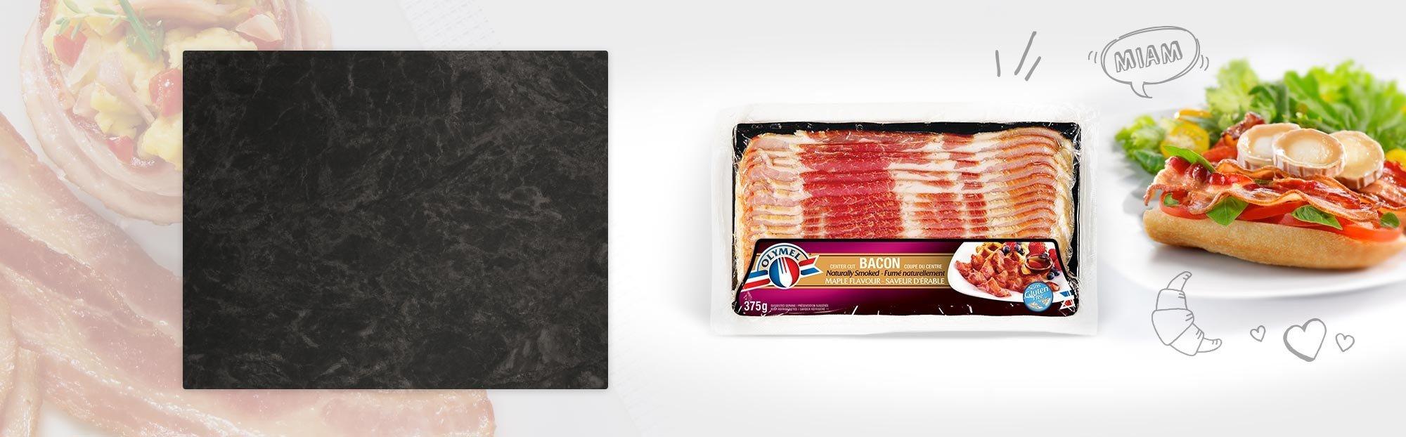 Bacon fumé naturellement à saveur d'érable