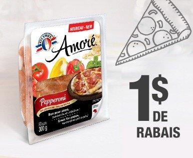 Économiser 1 $ à l'achat d'un emballage de pepperoni Olymel Amoré (300 g)