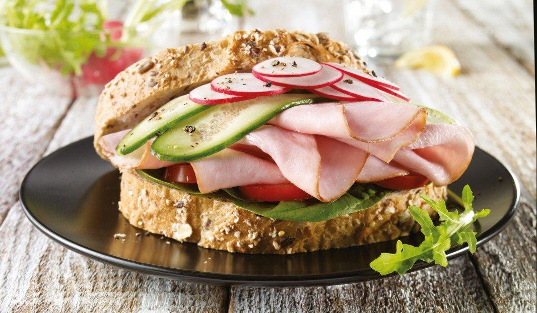 Sandwich fraîcheur au jambon à l'ancienne Olymel sans nitrite