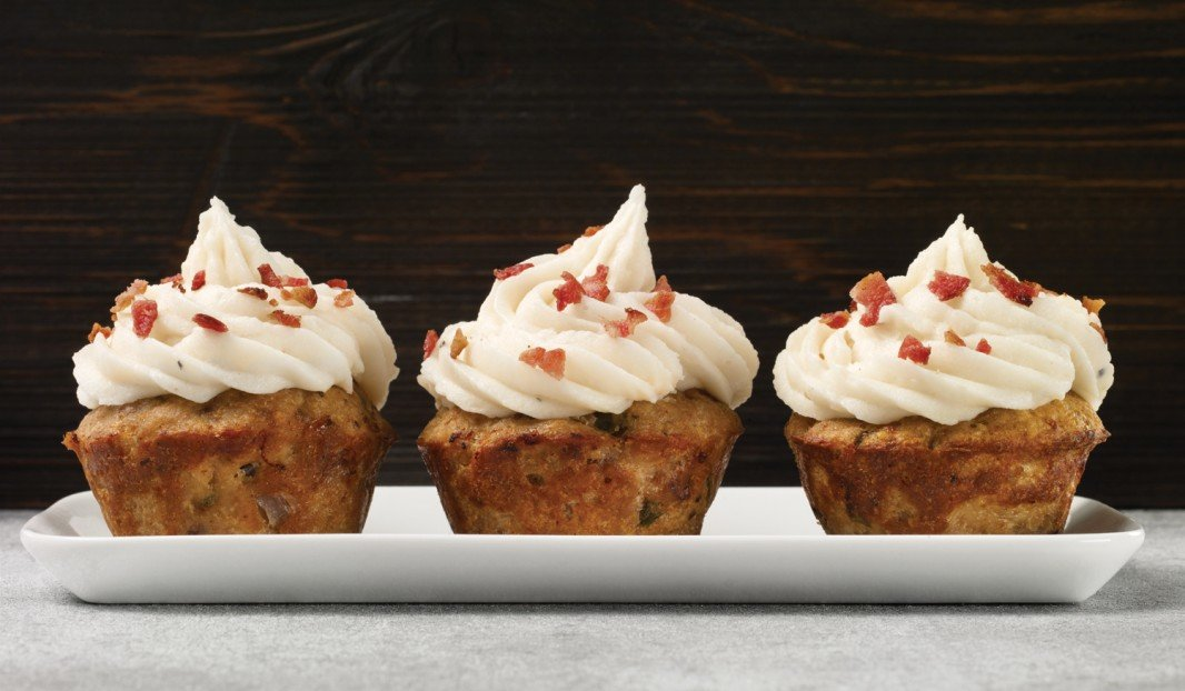 Mini meat loaf cupcakes