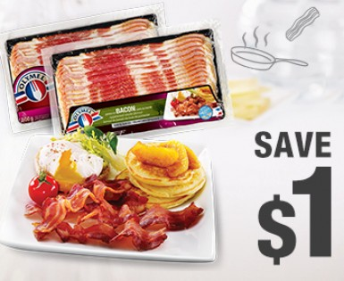 Save $1 on the purchase of any package of Olymel bacon (375 g)