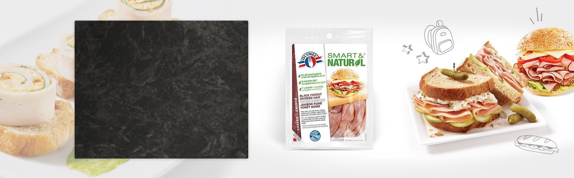 Shaved Black Forest Smoked Ham Olymel Smart & Natural