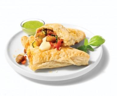 Mini feuilletés à la saucisse Italienne épicée et aux légumes grillés