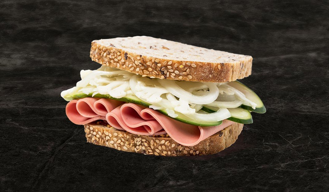 Bologna Pickle Sandwich