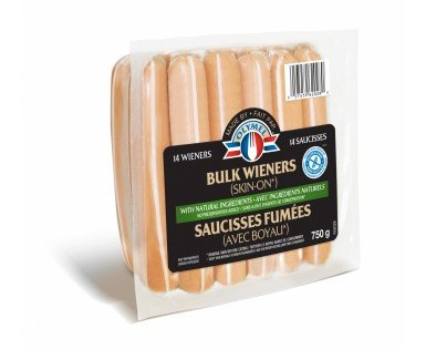 Bulk wieners with natural ingredients (Skin on)