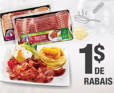 1 $ de rabais à l'achat d'un emballage de bacon Olymel