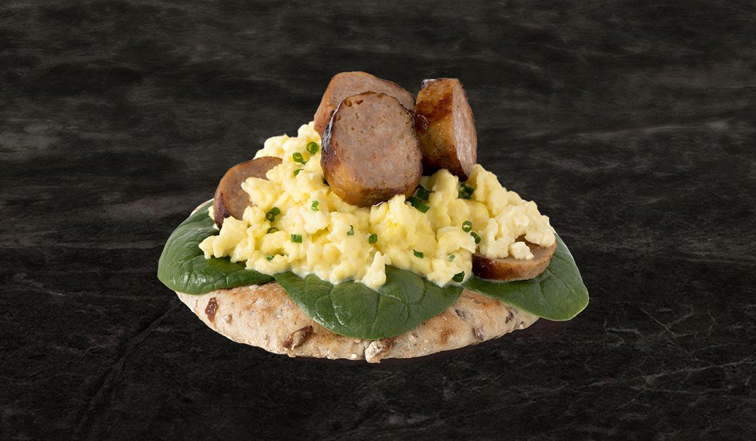 Tartine œuf-saucisse