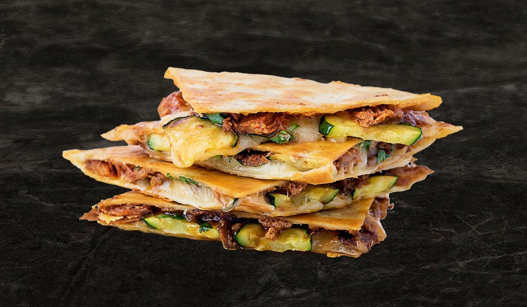 Pulled Pork and Zucchini Quesadillas