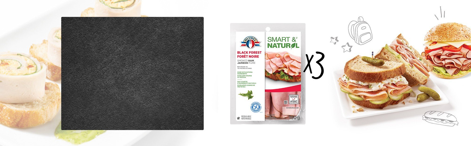Shaved Black Forest Smoked Ham - Tri pack