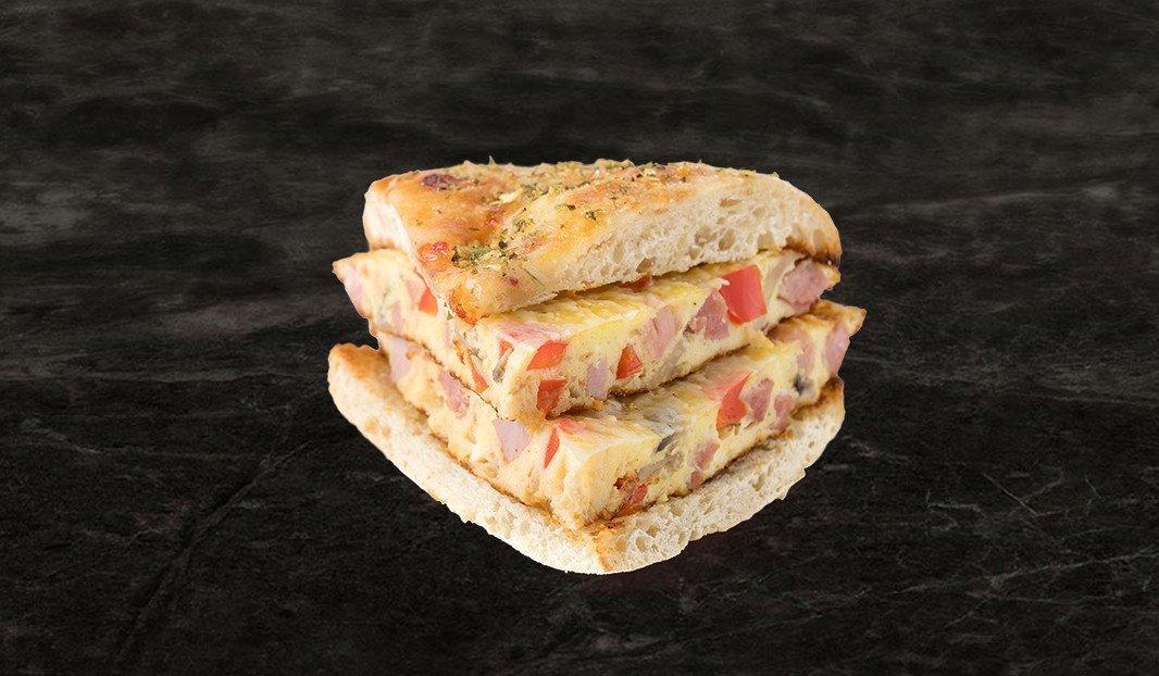 Sandwich frittata au jambon