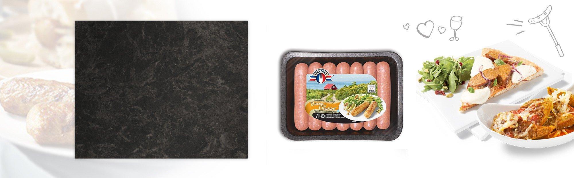 Saucisses Européennes Bacon & Cheddar