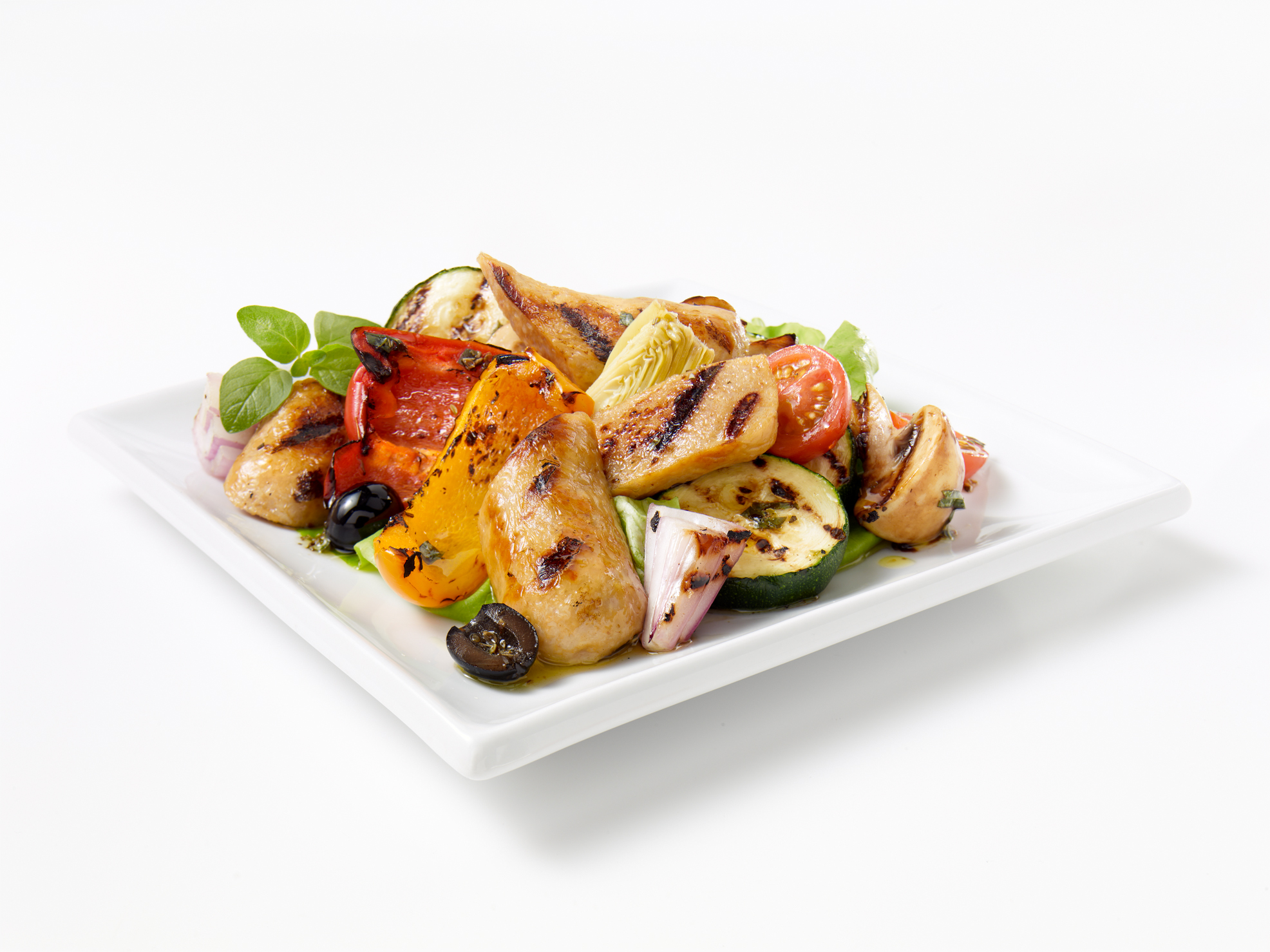 salade de saucisses grill es bacon cheddar et artichauts olymel inspirez vous. Black Bedroom Furniture Sets. Home Design Ideas