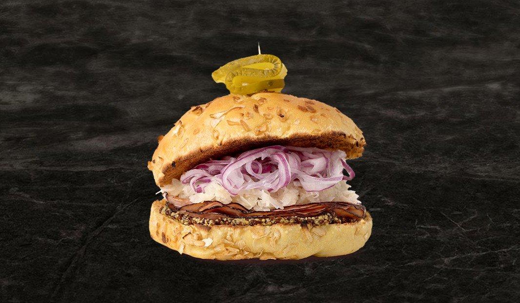 Sandwich chaud, jambon-choucroute